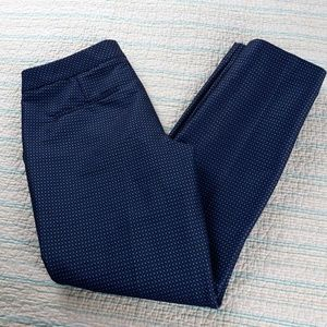 Express 6 Blue Black Jacquard Columnist Pants
